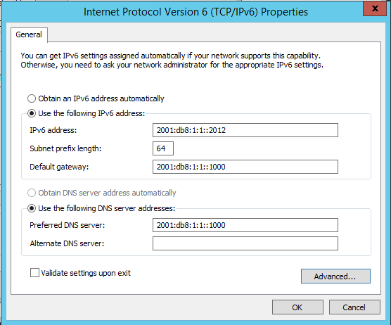 4 PREPARATION CONFIGURE IPV6 ADDRESSES, DEFAULT GATEWAY AND DNS SERVER STATICALLY Windows servers, especially Domain Controllers, DNS servers, etc.