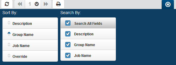 Groups / Groups Actions you can take on the member jobs: Click the Show Actions button for any member job to display actions you can take.