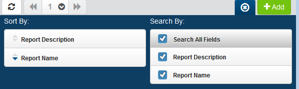 Reports / Adding or Editing Saved Report Sorting and Filtering the Display There are settings for the Reports page that allow you to choose how to sort the list, and what types of data will be