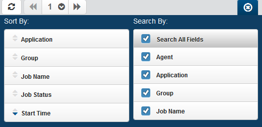 Schedule Activity / Active Jobs - Schedule Activity Start typing in the Search field to find a specific job. It will find everything that contains what you're typing.