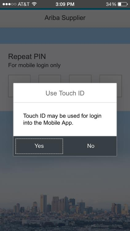 5. Create a four-digit personal identification number (PIN).