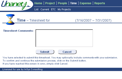 Step 4 Completing a Timesheet After all fields are completed click Submit. You can Save, Submit or Preview your timesheet.