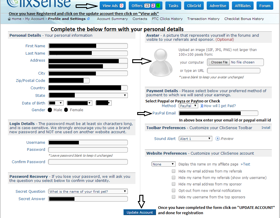 How to Register on Clixsense?
