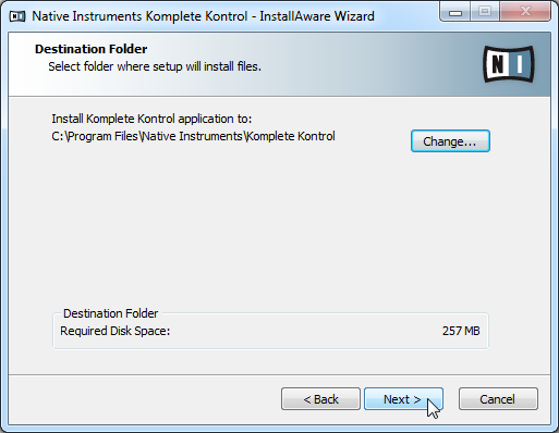 KOMPLETE KONTROL Software Installation Downloading and Installing the KOMPLETE KONTROL Software on Windows You can specify which plug-in types you want to install.