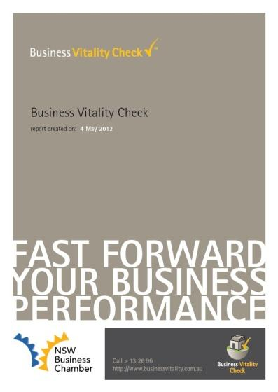 In 2010, Business Vitality Check was customised for Australia s largest and most prestigious business awards program the Telstra Australian Business Awards as a tool to provide feedback to entrants