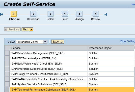 SAP Service tools for Performance Analysis Integrated into Solution Manger Self Service Session available for customers as SAP Technical Performance Optimization Self_SQL Data collected on satellite