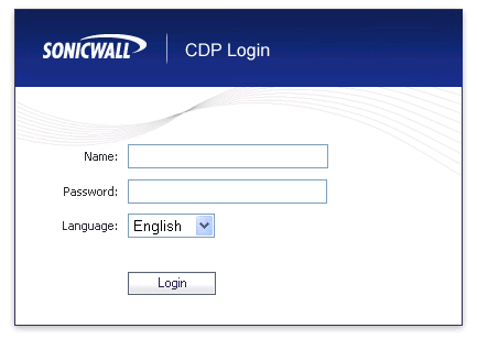 Step Description 2. Configure the SonicWALL CDP using the built-in web-based Management Tool.