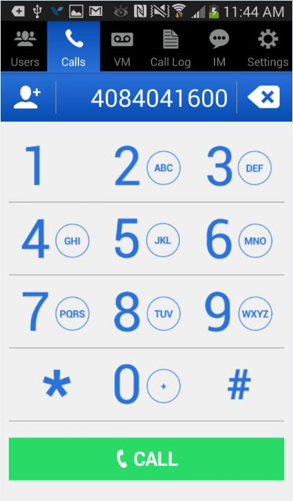 Wave ViewPoint Mobile 2.0 User Guide 17 Call controls Calls - Dialer When not in a call, clicking on the Calls tab will take you to the ViewPoint dialer.