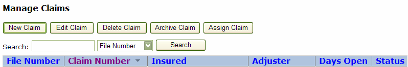 Reports - Used to run detailed reports on claims and users. Logout Logout of PowerClaim Net Services.