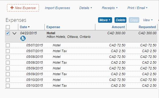 Click the Itemize button located at the bottom right of your screen to open the Nightly Lodging Expenses tab. Enter the Check-in Date. Enter the Check-out Date.