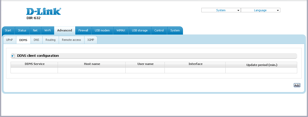 DDNS On the Advanced / DDNS page, you can define parameters of the DDNS service, which allows associating a domain name