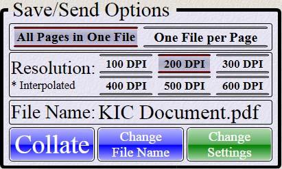 single image files and select a file name. Touch to open the Collate Images window and change page order by dragging image to new positions.