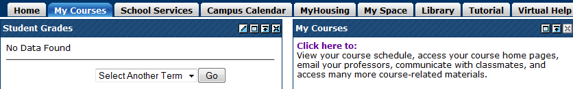 The My Courses Tab The My Courses tab contains all of the information for the courses you are enrolled in at UCO.