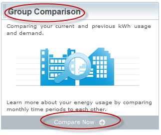"Groups: The Group Comparison tool The Group Comparison"" tool lets you evaluate and compare the cost and use per square foot between any two groups."