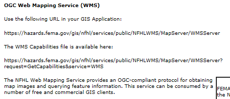 If you were to scroll down this web page, you would see all of the GIS services made available in which to access NFHL data.