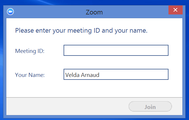 Using the Zoom software Starting a Zoom session From the website 1. Log into http://zoom.us using your college email and password you configured during the setup. 2.