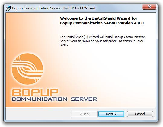 Installation. SQL Server setup Bopup Communication Server requires Windows administrator rights to run the Setup Wizard and install the service.