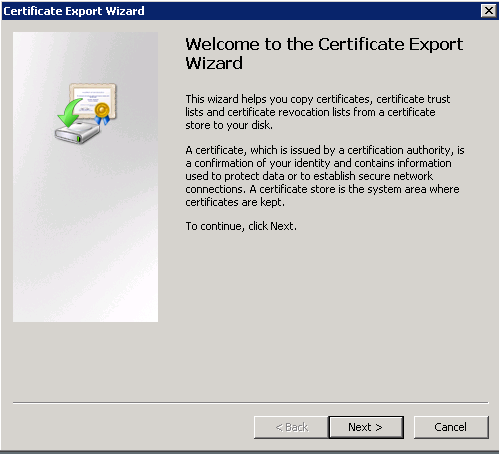 8. Select Yes, export the