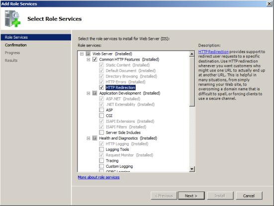 Windows Server 2008 1. Create a new blank folder outside of the Classweb.link directory to act as a placeholder for the redirection website e.g.