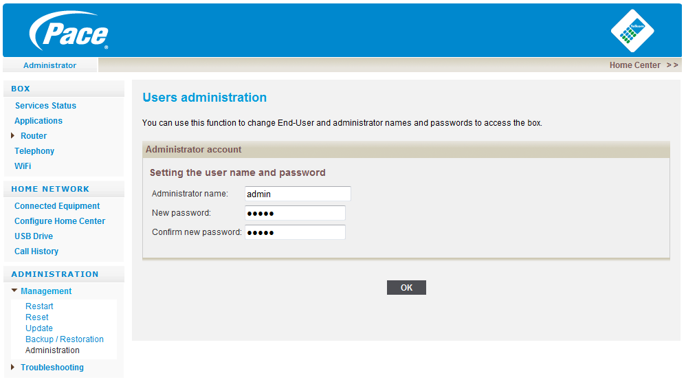 interface, it requires that all users login to the GUI with a password.