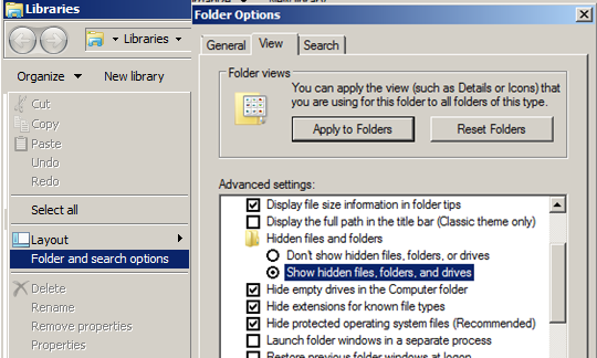 below). FIGURE 22: SHOW HIDDEN FILES, FOLDERS, AND DRIVES Disable UAC For the installation of Wonderware Software, UAC (User Access Control) should be disabled.