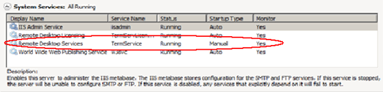 FIGURE 14: PROMPT FOR RESTART FIGURE 15: REMOTE DESKTOP SERVICES RESTART Remote Desktop Services are NOT started automatically by default (Figure 16 below).