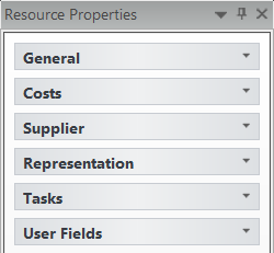 10.5. Assigning Resource Properties Each Task Resource has its own set of properties that are defined under Resource Properties.