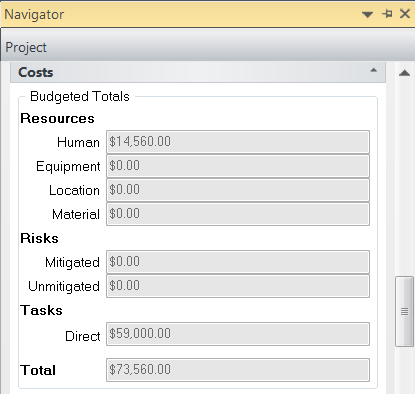 11.3. Viewing the Project Budgeted Costs Cost can be viewed by summary band level or at the project level 1.