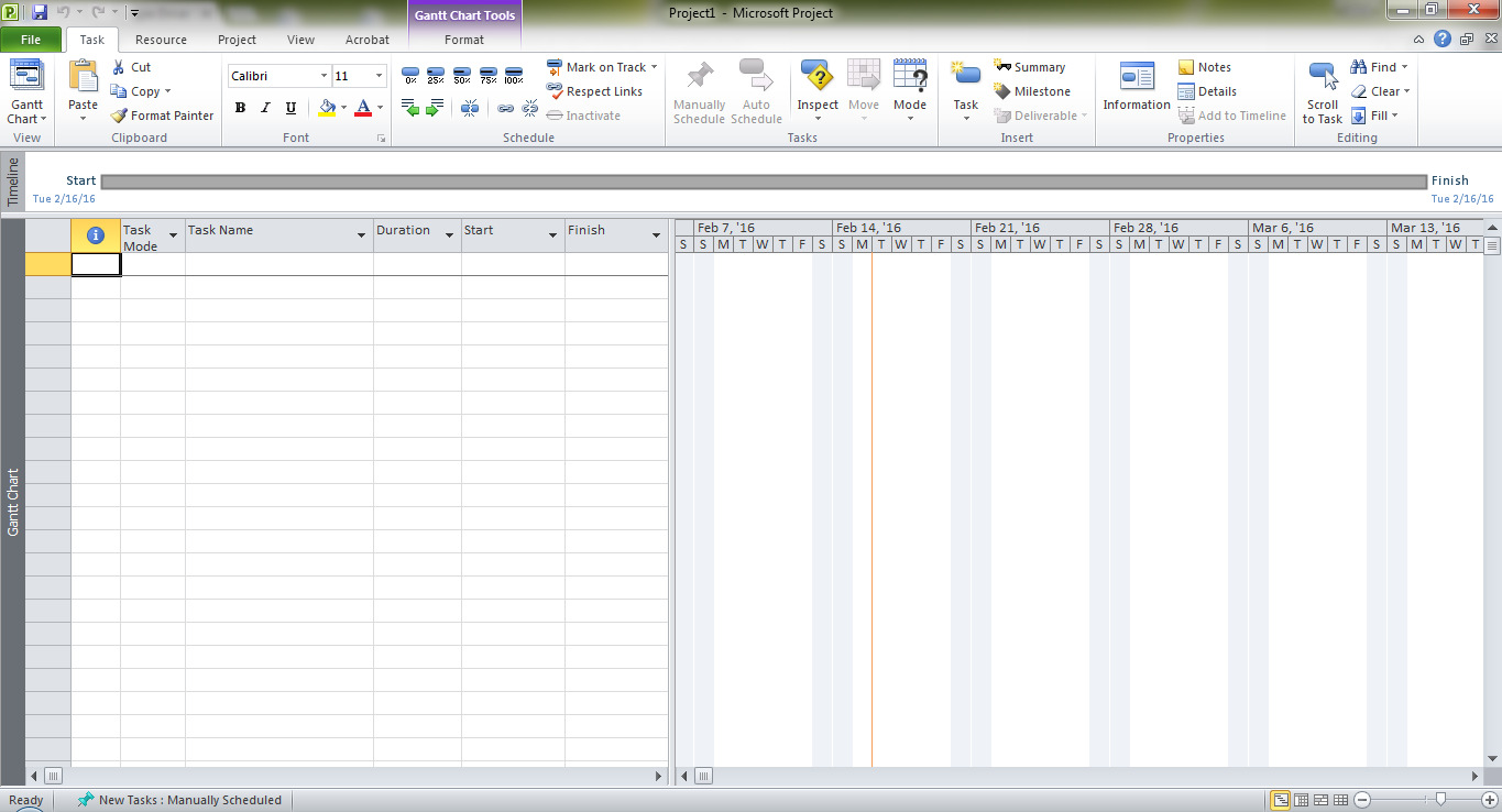 Microsoft Project Layout Ribbon Menu Timeline Subgroups Table