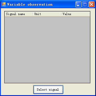 5.4.6 Variable window - Name: variable observation window. - Function: show the signal value, select signal.