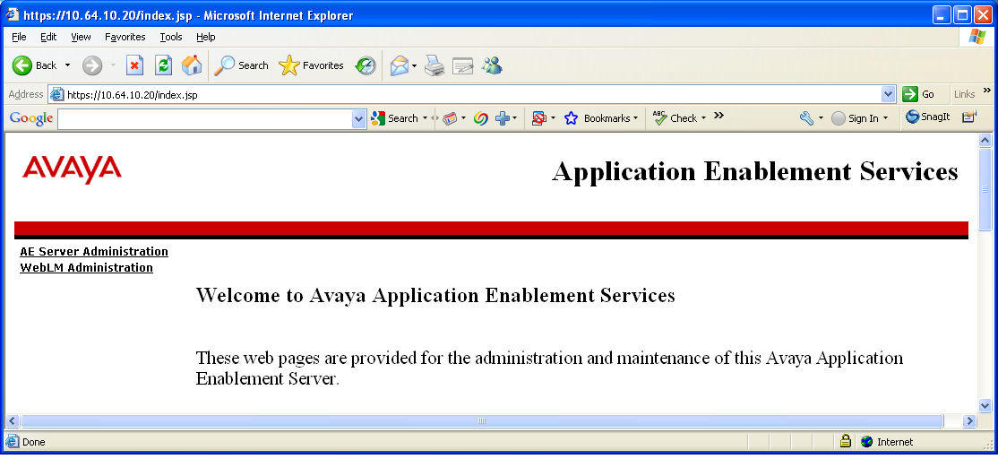 5. Configure Avaya Aura Application Enablement Services Application Enablement Services enables Computer Telephony Interface (CTI) applications to monitor and control telephony resources on