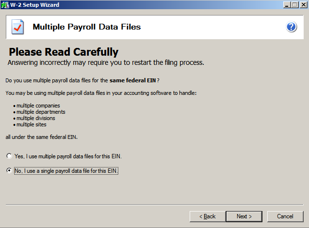 efiling and Reporting for Sage 100 ERP Multiple Payroll Data Files The multiple payroll data file merge feature is used for companies or tax preparers that keep separate databases for employees