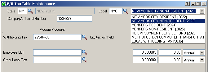 efiling and Reporting for Sage100 ERP Additional Setup for Local Taxes efiling and Reporting requires an additional selection for Local