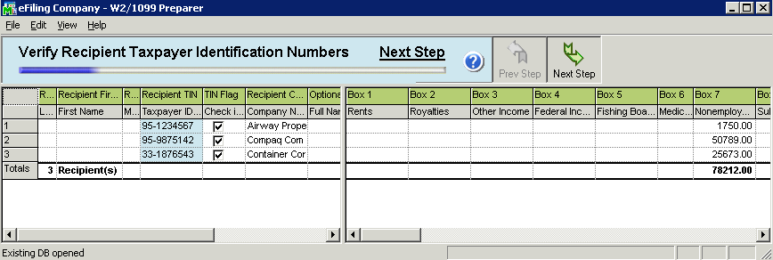 efiling and Reporting for Sage 100 ERP 1099 Prepaper The remaining 1099 Setup Wizard screens contains similar screens and selections as the W-2 Setup Wizard such as State & Local Tax items and