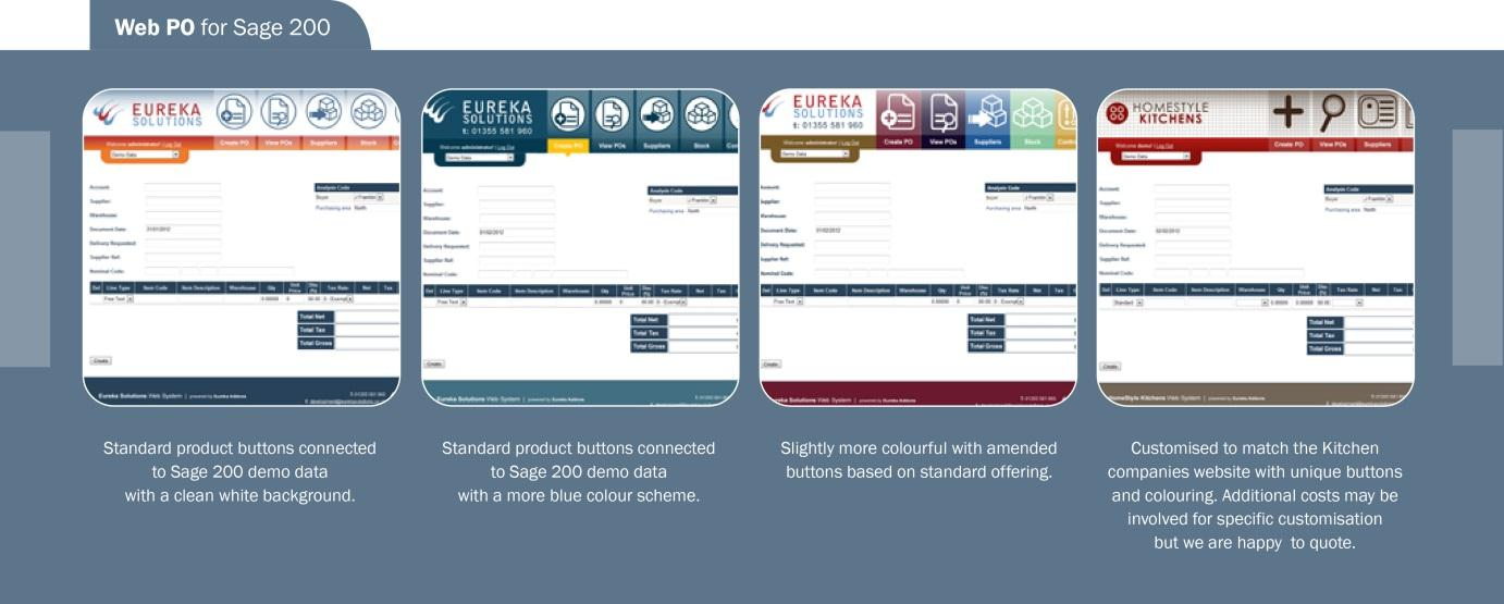 P a g e 1 Web Purchase Orders for Sage 200 - Introductory Guide Accessing the Demo Site Our Web PO for Sage 200 module is available for you to self-demo on our Eureka Showcase website.