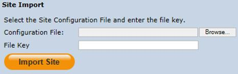 To save the site file, click the Save button in the Site File section and save the file to a secure location 7. Copy the file key and site file to the replica SAS site.