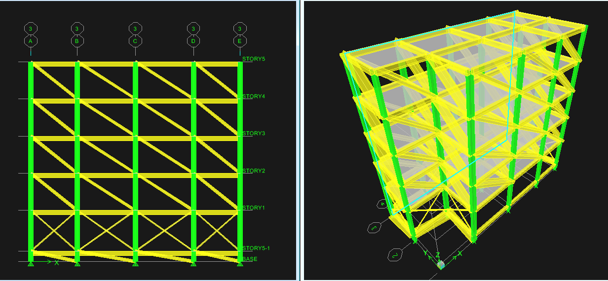 Volume, Special Issue, ICSTSD A. Model of actual existing structure by considering infill effect Fig : Elevation of Existing Building (Infill Model Actual) B.