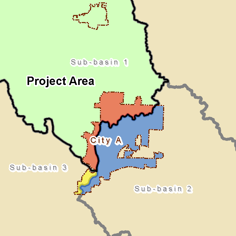Figure 11: Example of community spanning multiple watersheds 9.