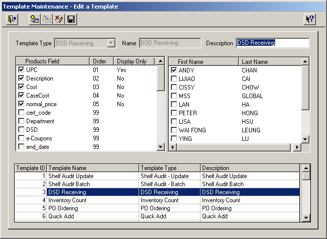 Template Maintenance Handheld Overview Setup Templates Access the Template Maintenance function under the Maintenance section of the Administration menu.