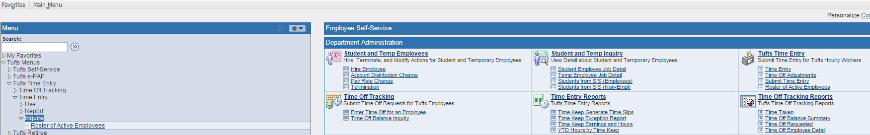 ROSTER As mentioned earlier, within Time Entry, after you have entered your Time Keep and the Pay End date, there is a tab called Roster of Employees that lists the non-exempt employees in the Time
