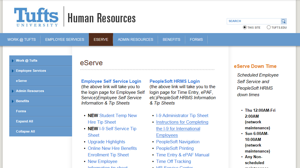 NAVIGATION Users of PeopleSoft HR gain access to this system by requesting a PeopleSoft account.