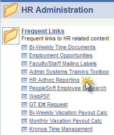 HR Ad-Hoc Report This web application is designed to retrieve HRMS data from the Data Warehouse which displays current data only.