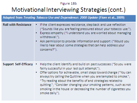 Motivational enhancement therapy (MET) is an adapted version of motivational interviewing that includes client-feedback sessions where the clinician promotes the client s commitment to change.