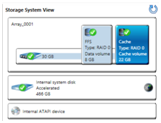 Computer configured WITH msata cache drive Figure 15: Storage System View with msata cache drive Computer NOT configured with msata cache drive Figure 17: Storage System View with a primary hard