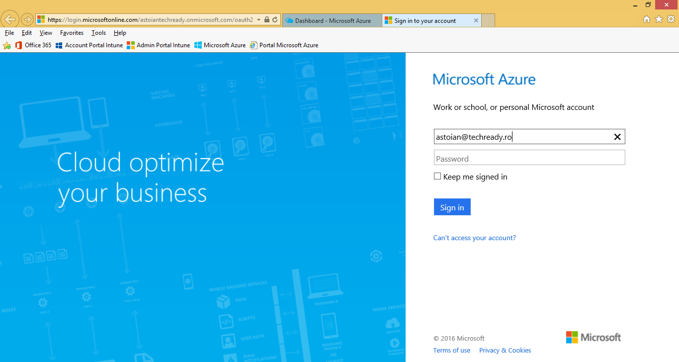 3. On the new Microsoft Azure portal, click Browse, then select Active Directory. 4.