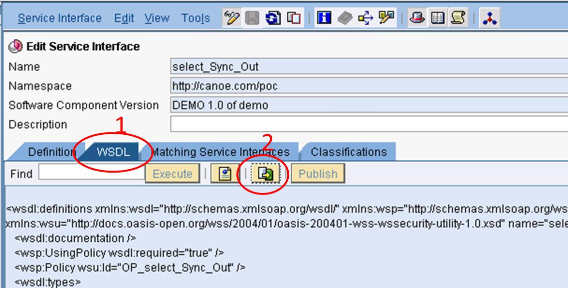 Integration Development 1. Obtaining the WSDL from the Service Interface Normally, ABAP proxies are generated from ESR on the ERP system using transaction SPROXY.