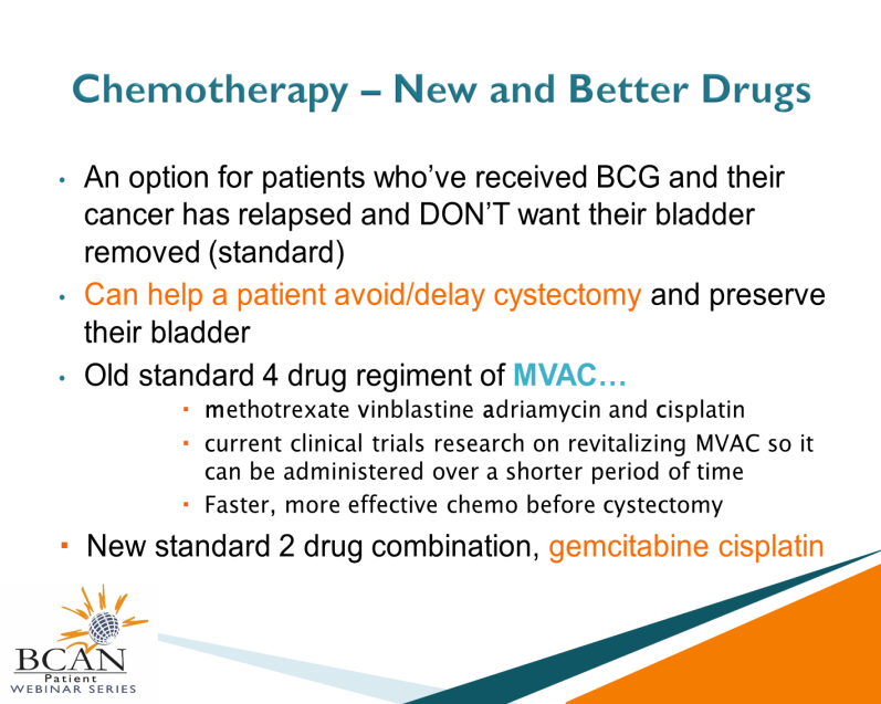 Dr. James McKiernan: In the setting of patients who've received BCG and the cancer has relapsed, one of the standard options is to remove the bladder.