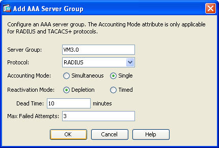 5 Cisco ASA configuration 5.1 AAA Setup The first changes you need to make, is adding the IDENTIKEY Server in the list as a new AAA Server Group.