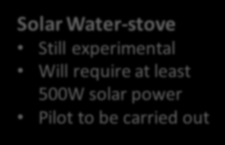 require at least 500W solar power Pilot to be carried out DC Desert