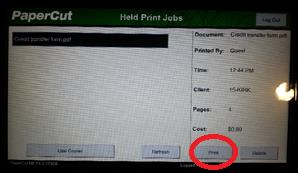 6. Lock your PC unless your session has finished when you go to the copier to release your print job(s).
